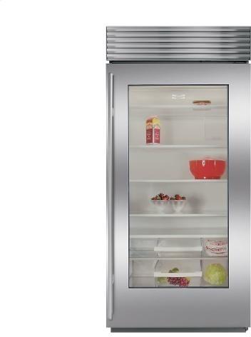 Sub zero bi 36rg refrigerator w glass door philadelphia - Glass door refrigerator freezer ...