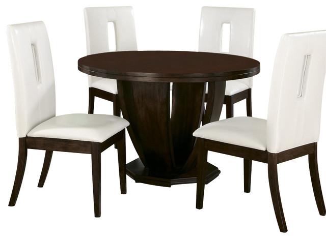 homelegance elmhurst 6 piece round dining room set in