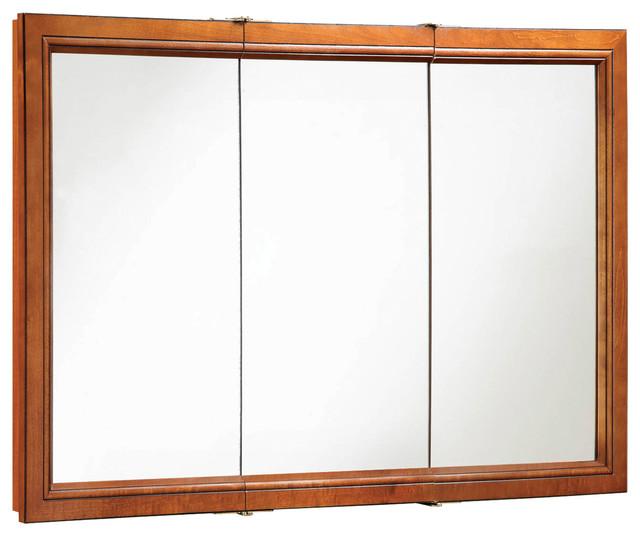 "Montclair 48""x30"" Medicine Cabinet Tri- Chestnut Glaze Finish - Transitional - Medicine Cabinets ..."