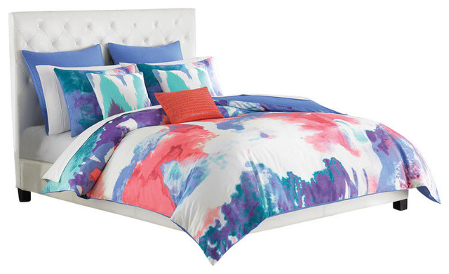 Amy Sia Painterly Full Queen Periwinkle Comforter Set