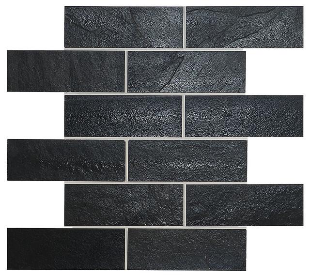 Mosaic Kitchen Backsplash Tile Black Slate 12 Quot X12