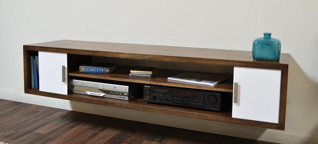 Terra mar modern wall mounted media console for Wall hung media cabinet