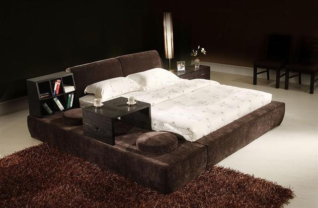 gloi signature bed frame w shelving modern beds by. Black Bedroom Furniture Sets. Home Design Ideas