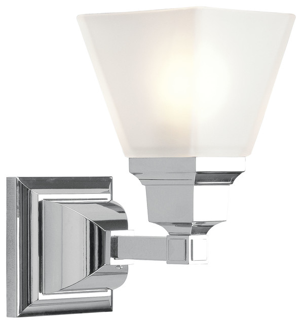 mission bath light chrome bathroom wall lights by