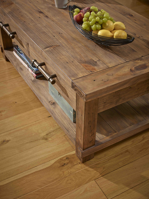 country reclaimed solid wood farmhouse coffee table rustic other metro by wholesale. Black Bedroom Furniture Sets. Home Design Ideas