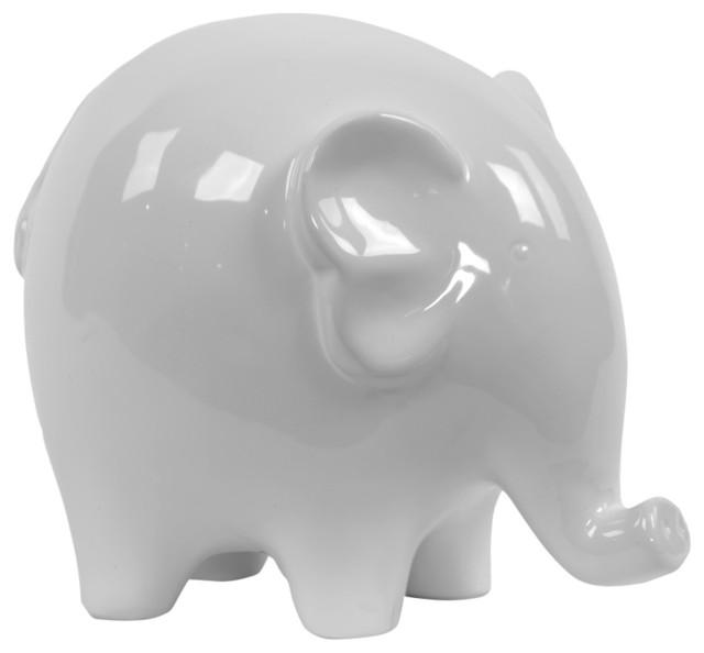 Ceramic Elephant Figurine Contemporary Decorative