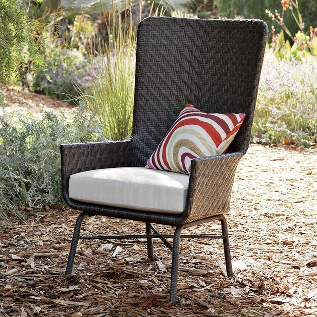 Hoyt Wing Chair Contemporary Outdoor Lounge Chairs by West Elm