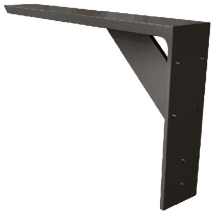 "Rolled Steel Iron Shelf Bracket, Black, 10""x10"" - Industrial - Brackets - by The Original ..."