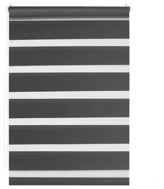 easy roll jalousy store enrouleur tamisant gris fonc 45x150cm contemporain store enrouleur. Black Bedroom Furniture Sets. Home Design Ideas