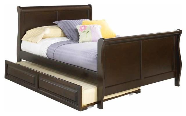Antique walnut platform sleigh bed with matching footboard - Walnut bedroom furniture sets uk ...