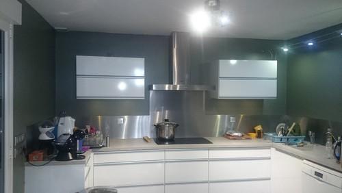 Cuisine au ton enterr - Quelle couleur pour une cuisine rustique ...