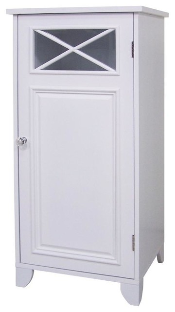 Dawson Floor Cabinet w Single Door in White - Traditional - Pantry Cabinets - by ShopLadder