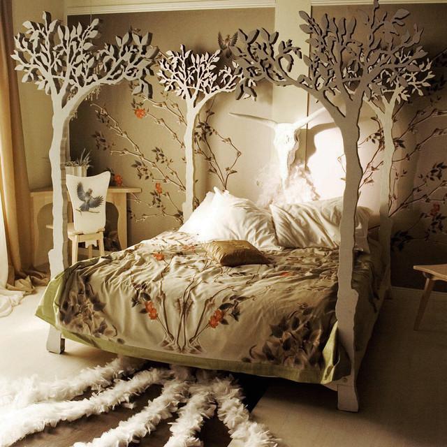 tree bed frame diy 2