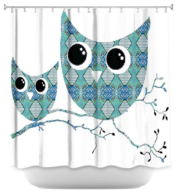 Shower Curtain Unique From Dianoche Designs Owl Argyle