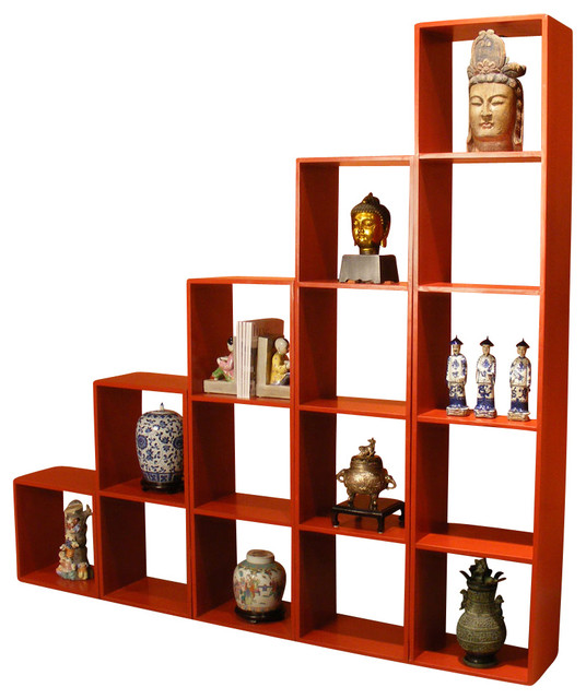 Elmwood Stackable Display Cabinet - Asian - China Cabinets And Hutches - by China Furniture and Arts