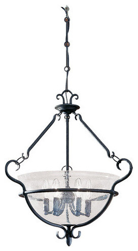 Sea Gull Lighting 6501 Wrought Iron Foyer Pendant Traditional Pendant Lig