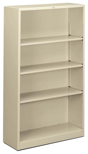 HON Brigade Steel Four-Shelf Bookcase - Contemporary ...