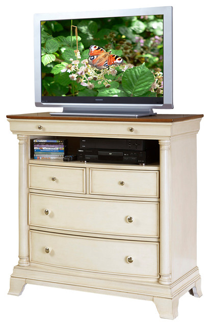 Homelegance Clementine White Postal Bedroom Set: Homelegance Inglewood II 4-Drawer TV Chest In Antique
