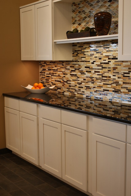 Tile Works Maple Grove : Opulence glass mosaic decadence traditional kitchen
