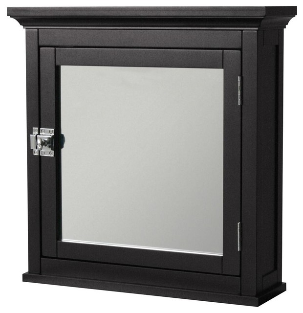 Mirror Front Medicine Cabinet in Espresso Finish - Contemporary - Medicine Cabinets - by ShopLadder