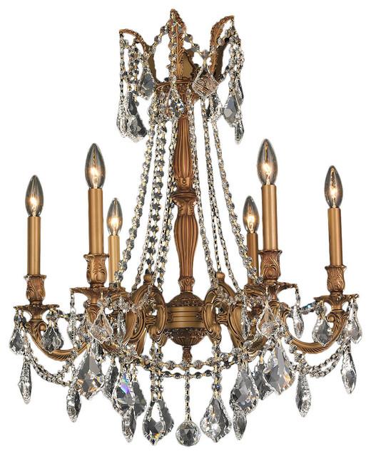 Yvette Crystal Chandelier: Italian Elegance 6-Light French Gold Crystal Ornate