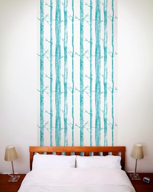 Aspen tree wallpaper tiles modern wall decals los for Aspen tree wall mural