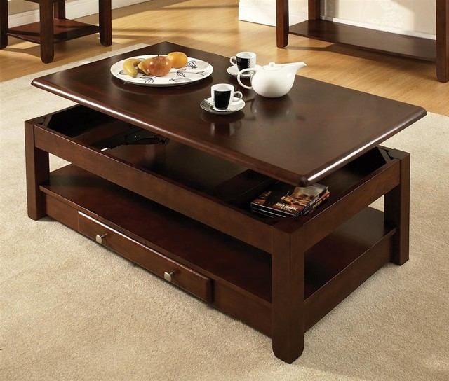 Nelson Lift Top Cocktail Table Cherry Contemporary Coffee Tables By Shopladder