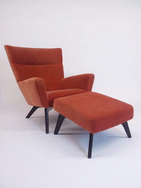 Room board boden tangerine velvet lounge chair and for Boden sessel