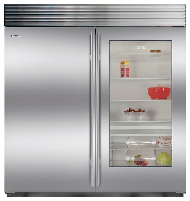 sub zero 36 built in all refrigerator with glass door