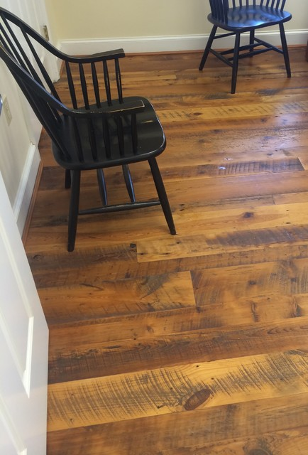 Tobacco wood distressed with saw marks 3 7 wide for Tobacco pine flooring