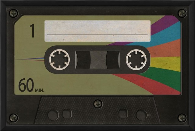 Cassette Tape 3 Blank Framed Artwork - Contemporary - Prints And Posters - by The Artwork Factory