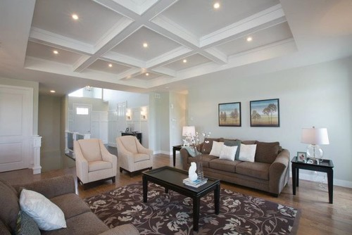 Do It Yourself Home Design: Coffered Ceiling