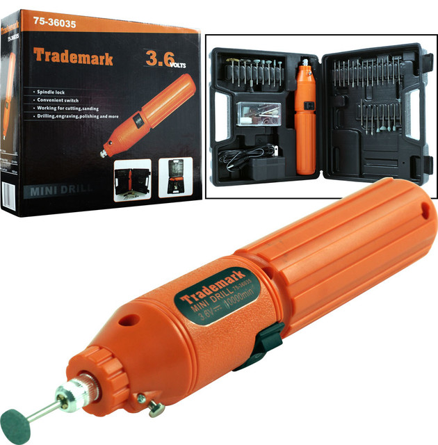 60 piece 3.6V Cordless Rotary Tool Set by Stalwart traditional-power ...