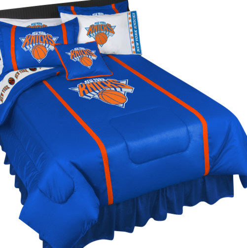 Nba new york knicks bedding set basketball bed full - Linge de lit contemporain ...