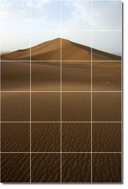 Deserts photo custom tile mural 6 48 x72 traditional for Custom mural tiles