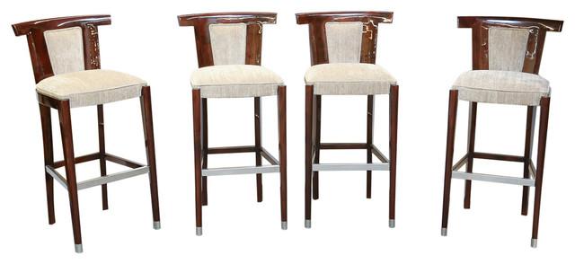 Art Deco Bar Stools Set Moderne Chaise Et Tabouret De