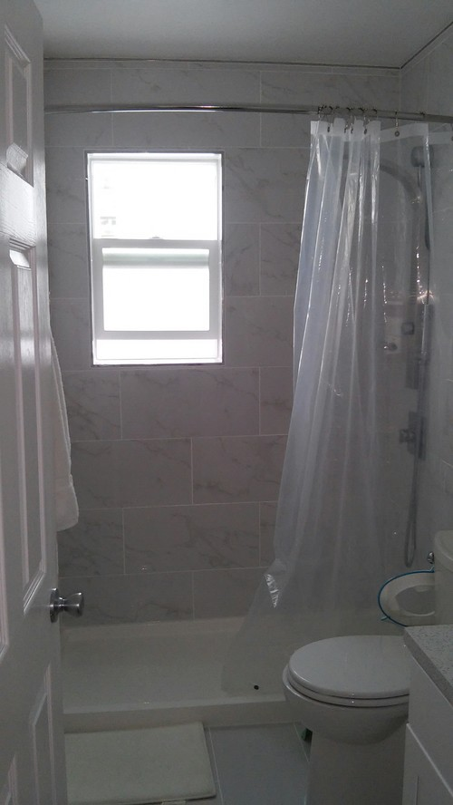 Our bathroom remodeling under 8k with labor for Labor cost to remodel bathroom