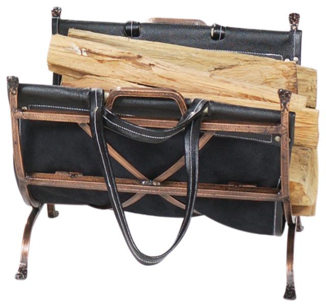 Antique Copper Log Holder - Traditional - Firewood Racks - by Blue ...