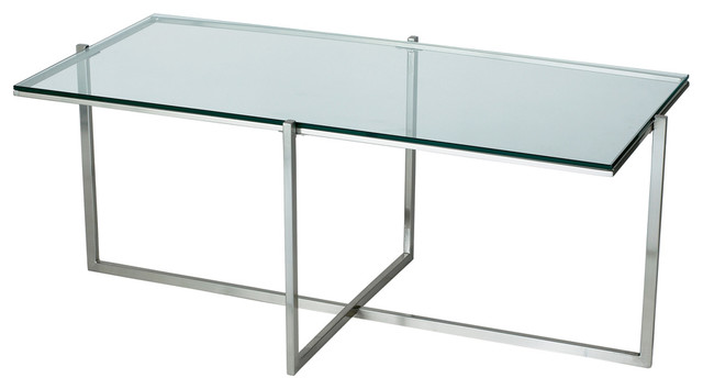 Adesso Hx1128 22 Glacier Coffee Table Ss Modern Coffee Tables By Lighting Front