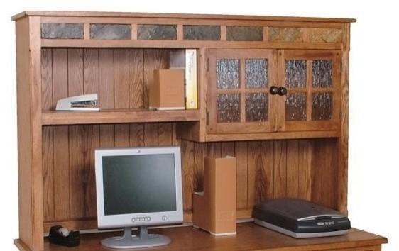 Sunny Designs Sedona Computer Desk Hutch In Rustic Oak - Contemporary - Buffets And Sideboards ...