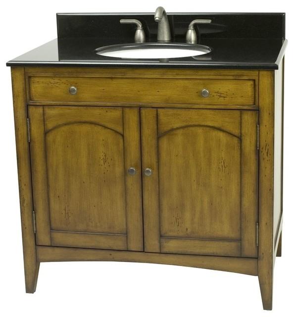 Distressed Honey Bathroom Powder Room Vanity Vn111 217 Magellan Traditional Bathroom