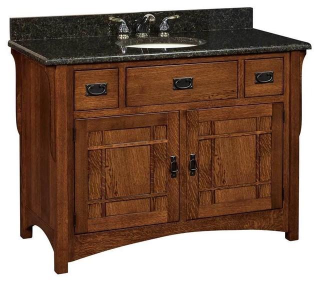 Landmark Bathroom Vanity Cherry Asbury Wood Door Craftsman Bathroom Vanities And Sink