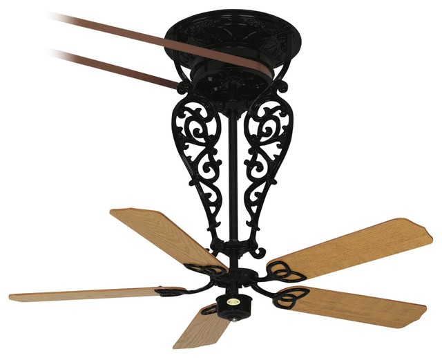 Belt driven fan in black mediterranean ceiling fans - Belt driven ceiling fan ...