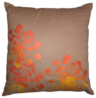 Queen Anne s Lace Throw Pillow - Modern - Scatter Cushions - by Nightbyrd