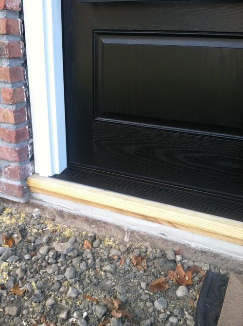 Front door sill help - Replace threshold prehung exterior door ...