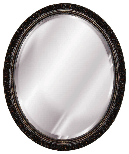 Baroque oval mirror gold leaf traditional wall for Baroque oval wall mirror