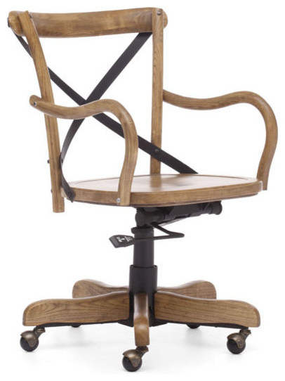 Union Square Office Chair Elm Wood Rustic Office Chairs Other Metro By Warehouse74