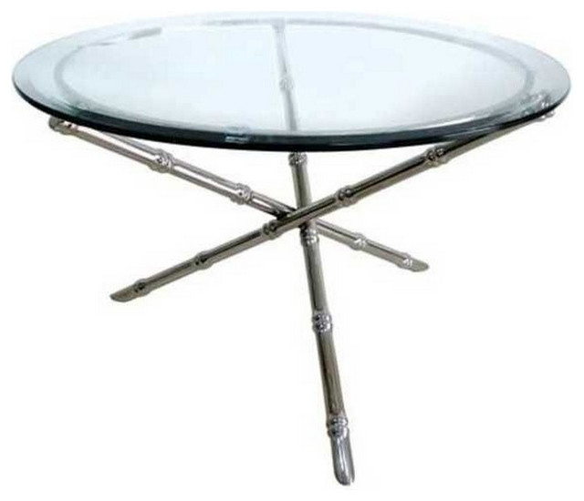 Worlds Away Avery Bamboo Coffee Table Silver Avery 36u0026quot; - Contemporary - Coffee Tables