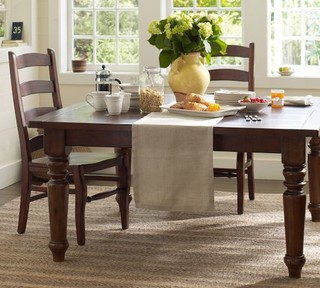 Sumner square fixed dining table pottery barn for Dining room tables pottery barn