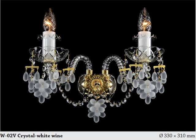 Bohemian Crystal Wall Lights : Bohemian crystal wines wall sconce 1 - Modern - Chandeliers - adelaide - by Murano Art Glass ...